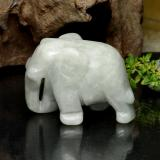 thumb image of 149.5ct Carved Elephant Green Jadeite (ID: 470559)
