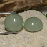 thumb image of 8ct Round Cabochon Brownish Green Jadeite (ID: 470588)