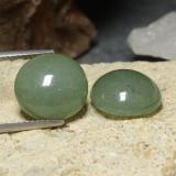 thumb image of 15ct Round Cabochon Green Jadeite (ID: 470600)