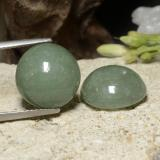 thumb image of 16ct Round Cabochon Green Jadeite (ID: 470602)