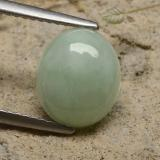 thumb image of 3.6ct Oval Cabochon Green Jadeite (ID: 481236)