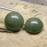 thumb image of 17.6ct Round Cabochon Green Jadeite (ID: 481243)