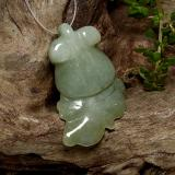 thumb image of 31.8ct Carved Fish with Hole Medium Green Jadeite (ID: 494282)