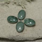 thumb image of 3ct Oval Cabochon Green Jadeite (ID: 496136)
