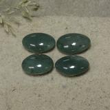 thumb image of 4ct Oval Cabochon Green Jadeite (ID: 496140)