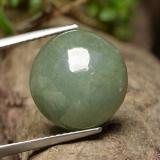 thumb image of 8.7ct Round Cabochon Green Jadeite (ID: 496203)