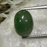 thumb image of 5.1ct Oval Cabochon Green Jadeite (ID: 496220)