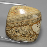thumb image of 38.7ct Cushion Cabochon Multicolor Jasper (ID: 428653)