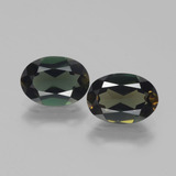 thumb image of 2.6ct Oval Facet Yellowish Green Kornerupine (ID: 389417)