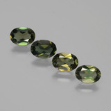 thumb image of 2.1ct Oval Facet Yellowish Green Kornerupine (ID: 389494)