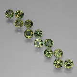 thumb image of 2.2ct Diamond-Cut Yellowish Green Kornerupine (ID: 389644)