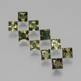 thumb image of 2.4ct Princess-Cut Yellowish Green Kornerupine (ID: 394271)