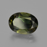 2.58 ct Oval Facet Yellowish Green Kornerupine Gem 10.51 mm x 7.7 mm (Photo B)