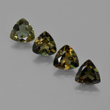 thumb image of 2.7ct Trillion Facet Brownish Green Kornerupine (ID: 421926)