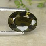 thumb image of 3.6ct Oval Facet Yellowish Green Kornerupine (ID: 487088)