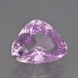 11.09 ct Trillion Facet Pink Kunzite Gem 16.69 mm x 13 mm (Photo B)