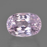 thumb image of 7.3ct Oval Facet Light Pink Kunzite (ID: 451440)