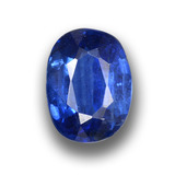 thumb image of 1.2ct Oval Facet Blue Kyanite (ID: 459041)