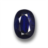 thumb image of 1.1ct Oval Facet Deep Blue Kyanite (ID: 459111)