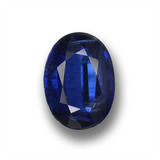 thumb image of 1ct Oval Facet Deep Blue Kyanite (ID: 459116)
