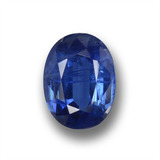 thumb image of 1.1ct Oval Facet Blue Kyanite (ID: 459120)