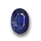 thumb image of 1.3ct Oval Facet Deep Blue Kyanite (ID: 459245)