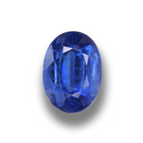 thumb image of 1.2ct Oval Facet Blue Kyanite (ID: 459306)