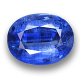 thumb image of 17.7ct Oval Facet Blue Kyanite (ID: 462240)