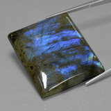 thumb image of 63.6ct Baguette Cabochon Gray Blue Sheen Labradorit (ID: 431337)