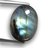 thumb image of 11.9ct Oval Cabochon Gray Blue Sheen Labradorite (ID: 460543)