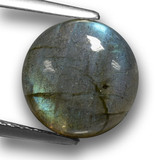 thumb image of 4.9ct Round Cabochon Gray Blue Sheen Labradorite (ID: 462691)