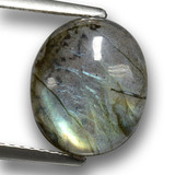 thumb image of 3.9ct Oval Cabochon Gray Blue Sheen Labradorite (ID: 462692)