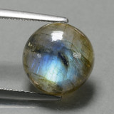 thumb image of 5.3ct Round Cabochon Gray Blue Sheen Labradorite (ID: 462848)