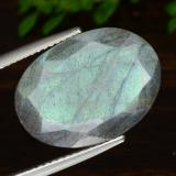thumb image of 12.3ct Oval Facet Gray Blue Sheen Labradorite (ID: 473420)