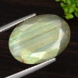 thumb image of 10.5ct Oval Facet Multicolor Labradorite (ID: 473839)