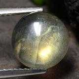 thumb image of 3ct Round Cabochon Gray Blue Sheen Labradorite (ID: 475005)