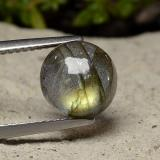 thumb image of 3.2ct Round Cabochon Gray Blue Sheen Labradorite (ID: 489556)