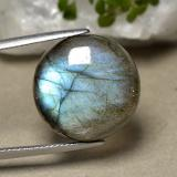 thumb image of 19.1ct Round Cabochon Blue-Sheen Gray Labradorite (ID: 494840)