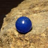thumb image of 12.8ct Drilled Sphere Blue Lapis Lazuli (ID: 466937)