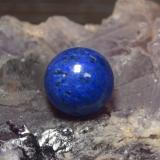 thumb image of 13ct Drilled Sphere Blue Lapis Lazuli (ID: 466957)