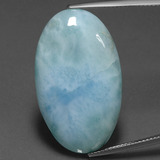 thumb image of 25.3ct Oval Cabochon Green Blue Larimar (ID: 391294)