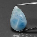 thumb image of 7.3ct Pear Cabochon Green Blue Larimar (ID: 391397)