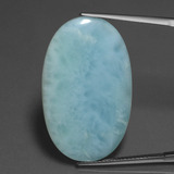 thumb image of 17.8ct Oval Cabochon Blue Larimar (ID: 433876)