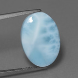 thumb image of 7.7ct Oval Cabochon Blue Larimar (ID: 447371)