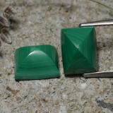 thumb image of 7.7ct Baguette Cabochon Multicolor Green Malachite (ID: 323238)