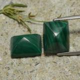 thumb image of 9.6ct Baguette Cabochon Multicolor Green Malachite (ID: 323245)