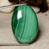 thumb image of 49.4ct Oval Cabochon Multicolor Green Malachite (ID: 484003)