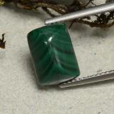thumb image of 4.8ct Cushion Shape Sugarloaf Cabochon Multicolor Green Malachite (ID: 494165)