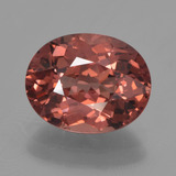 thumb image of 3.5ct Oval Facet Pinkish Rose Malaya Garnet (ID: 456075)