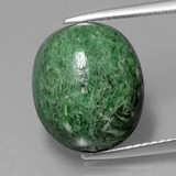 thumb image of 12.4ct Oval Cabochon Green Maw-Sit-Sit (ID: 406682)